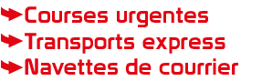 Courses Urgentes, Transport Express, Navettes de courrier